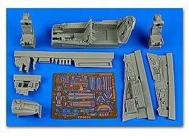 Aires F4J/S Phantom II Cockpit Set For ACY Plastic Model Aircraft Accessory 1/48 Scale #4650