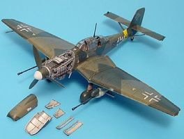 Aires Ju87G Stuka Detail Set For an Academy Model Plastic Model Aircraft Accessory 1/72 #7096