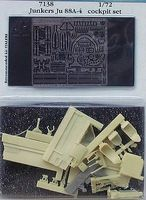 Aires Ju88A4 Cockpit Set For an Italeri Model Plastic Model Aircraft Accessory 1/72 Scale #7138