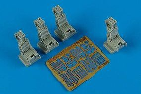 Aires MB Gruea 7 (EA6B) Ejection Seats (4) Plastic Model Aircraft Accessory 1/72 Scale #7269