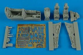 Aires F4E Cockpit Set For a Hasegawa Model Plastic Model Aircraft Accessory 1/72 Scale #7272