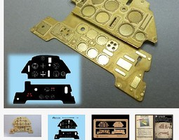 Airscale 1/24 Messerschmitt Bf109E Instrument Panel (Photo-Etch & Decal) for ARX