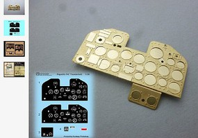 Airscale 1/24 P47 Thunderbolt Instrument Panel (Photo-Etch & Decal) for KIN