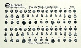 Airscale 1/32 Early Allied Jets Instrument Dials (Decal)