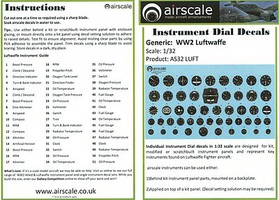 Airscale 1/32 WWII Luftwaffe Instrument Dials (Decal)