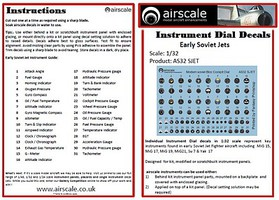 Airscale 1/32 Early Soviet Jets Instrument Dials (Decal)