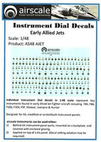 Airscale 1/48 Early Allied Jets Instrument Dials (Decal)