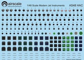 Airscale 1/48 Modern Jet Instrument Dials (Decal)
