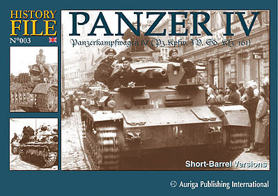 Auriga Publishing History File 3- Panzer IV PzKpfw Short Barrel Versions -- Military History Book -- #hf3