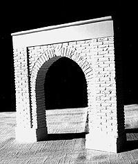 A I M Products Tunnel Portal - Weathered -- O Scale Model Railroad Scenery -- #950