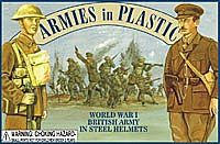 Armies In Plastic WWI British Army in Steel Helmets (20) -- Plastic Model Military Figure -- 1/32 Scale -- #5406