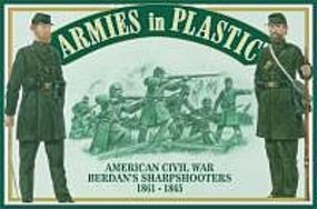 ArmiesInPlastic American Civil War 1861-65 Berdans Sharpshooters Plastic Model Military Figure 1/32 #5458