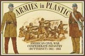 ArmiesInPlastic American Civil War 1861-65 Confederate Infantry Plastic Model Military Figure 1/32 #5461