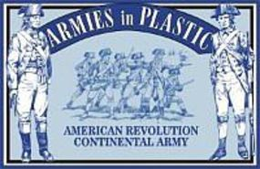 ArmiesInPlastic American Revolution Continental Army Infantry (20) Plastic Model Military Figure 1/32 #5464
