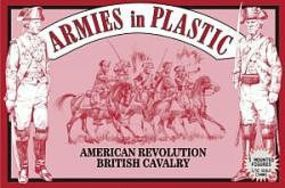 ArmiesInPlastic American Revolution British Cavalry (5 Mtd) Plastic Model Military Figure 1/32 Scale #5471