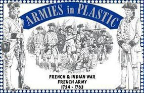 ArmiesInPlastic French & Indian War 1754-63 French Army (16) Plastic Model Military Figure 1/32 #5542