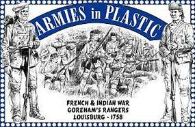 ArmiesInPlastic French & Indian War Louisburg Gorehams Rangers Plastic Model Military Figure 1/32 #5551