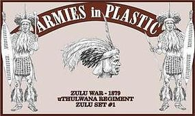 ArmiesInPlastic Zulu War uThulwana Regiment Zulu Set #1 Plastic Model Military Figure 1/32 Scale #5575