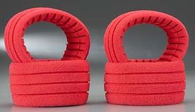 AKA 1/8 Truggy Shaped Insert Grooved Red Soft (4)