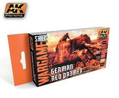 AK Wargame German Red Primer Acrylic Paint Set (6)17ml Bottles Hobby and Model Paint Set #1124