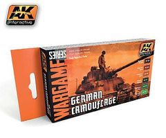 AK Wargame German Camouflage Acrylic Paint Set (6) 17ml Bottles Hobby and Model Paint Set #1167
