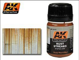 AK Rust Streaks Enamel Paint 35ml Bottle Hobby and Model Enamel Paint #13