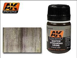 AK Winter Streaking Grime Enamel Paint 35ml Bottle Hobby and Model Enamel Paint #14