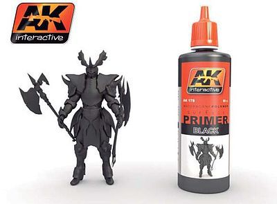 AK Interactive Black Acrylic Primer 60ml Bottle -- Hobby and Model Acrylic Paint -- #178
