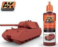AK Red Acrylic Primer 60ml Bottle Hobby and Model Acrylic Paint #180