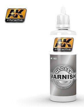 AK Interactive Glossy Acrylic Varnish 60ml Bottle -- Hobby and Model Acrylic Paint -- #192
