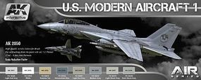 AK Air Series US Modern Aircraft 1 Colors Hobby and Model Paint Set #2050