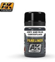 AK Air Series Panel Liner for Grey & Blue Camouflage Hobby and Model Acrylic Paint #2072