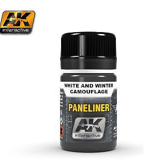 AK Interactive Air Series Panel Liner for White & Winter Camouflage -- Hobby and Model Acrylic Paint -- #2074