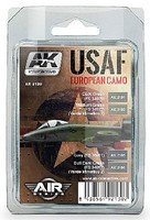 AK Air Series- USAF European Camo Acrylic Paint Set (4 Colors) 17ml Bottles