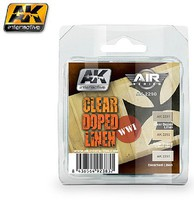AK Clear Doped Linen WWI Planes Acrylic Paint Set (3 Colors) Hobby and Model Paint Supply #2290