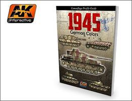 AK 1945 German Colors Camouflage Profile Guide Book How To Model Book #403