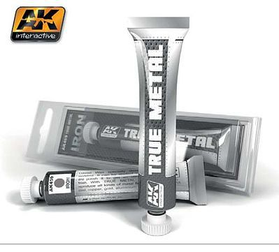 AK Interactive True Metal Wax Iron 20ml Tube -- Hobby and Model Enamel Paint -- #459