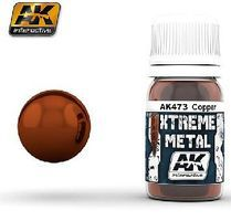 AK Xtreme Metal Copper Metallic Paint Hobby and Model Acrylic Paint #473