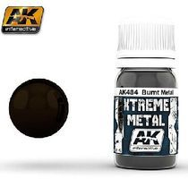 AK Xtreme Metal Burnt Metal Metallic Paint Hobby and Model Acrylic Paint #484