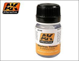 AK Odorless Enamel Thinner 35ml Bottle Hobby and Model Enamel Paint #49