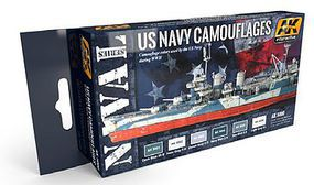 AK US Navy Camouflages Acrylic Paint Hobby and Model Paint Set #5000