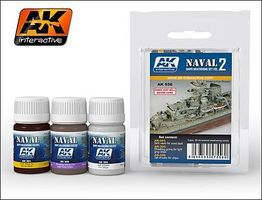 AK Naval Ships Weathering Vol.2 Enamel Paint Hobby and Model Paint Set #556