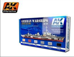 AK WWII German Warships Camouflages Acrylic Paint Hobby and Model Paint Set #559