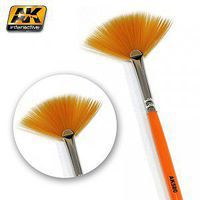 AK Fan Shape Weathering Brush Hobby and Model Paint Brush #580