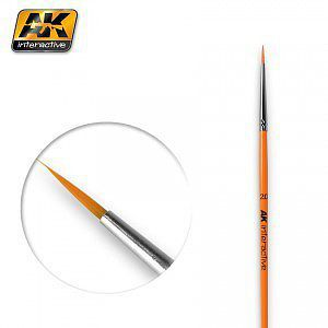 AK Interactive Size 2/0 Synthetic Round Brush -- Hobby and Model Paint Brush -- #602