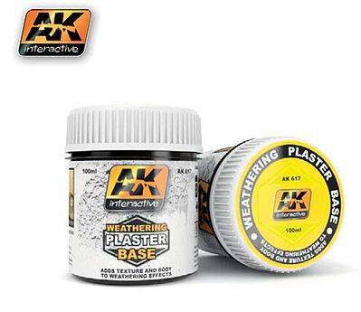 AK Interactive Weathering Plaster Base 100ml Bottle -- Hobby and Model Paint Supply -- #617
