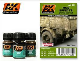 AK Mud Effects Enamel Paint Hobby and Model Paint Set #61