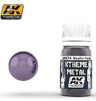 AK Xtreme Metal Purple Metallic Paint 30ml Bottle Hobby and Model Enamel Paint #674