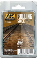 AK Rolling Stock Weathering Paint (3 Colors) 35ml Bottles Hobby and Model Paint Set #7023
