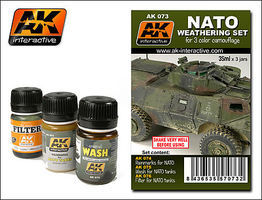 AK NATO Camouflage Enamel Paint (74, 75, 76) Hobby and Model Paint Set #73